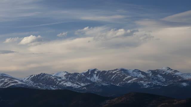 Time lapse HD video Colorado Front Range mountains video