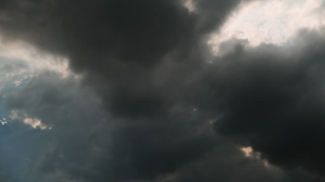 time lapse - heavily cloudy sky  in summer after the storm and the sun shines video