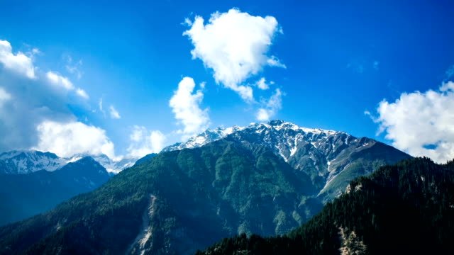 Time lapse high mountain landscape. Spiti Valley, Himachal Pradesh, India video