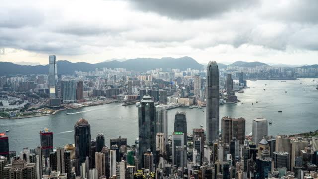 time lapse : hong kong, a city of businessmen and investors - центральный район стоковые видео и кадры b-roll