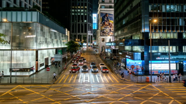 stockvideo's en b-roll-footage met 4 k time-lapse: winkelstraat van hong kong - hongkong