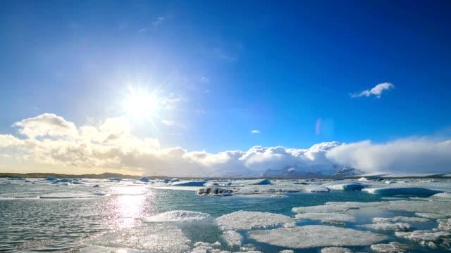 HD Time Lapse : Icebergs at Jokulsarlon. Iceland Icebergs at Jokulsarlon. Iceland. Full HD 1920x1080 Format icecap stock videos & royalty-free footage