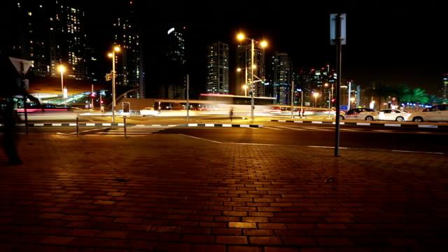 Time Lapse in Dubai Traffic video