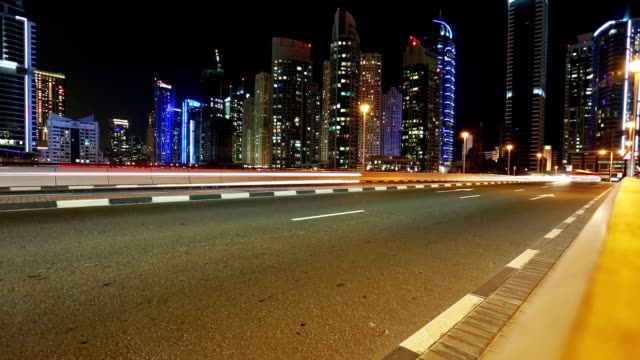 Time Lapse in Dubai with street traffic video