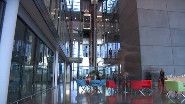 Time lapse in modern business offices video