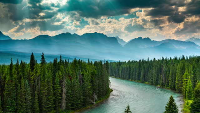 Video Time Lapse : Landscape in Canada - Bow Valley in Banff National Park