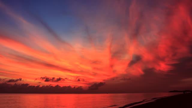 時間の経過風景サンライズビーチ - ハワイ点の映像素材/bロール
