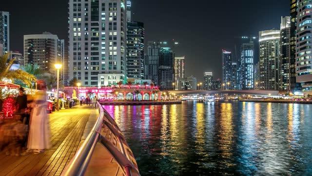 Time Lapse Marina Area Of Dubai