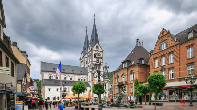4K Time Lapse : Market place in Boppard video