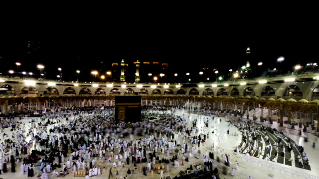 time lapse Masjidil Haram,Mecca video