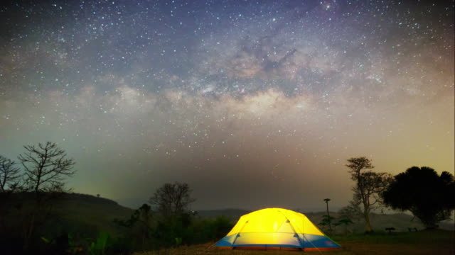 Time lapse milky way and night sky. video