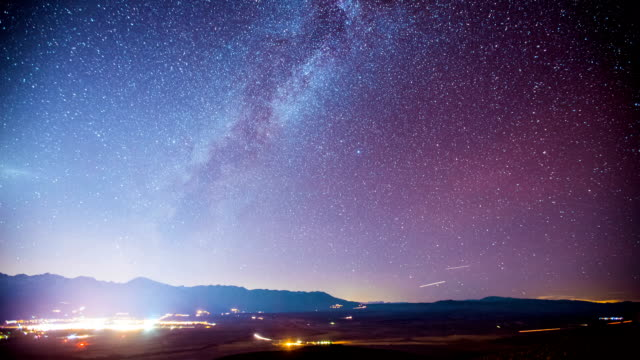 Time Lapse - Milky Way Galaxy Over the Valley video