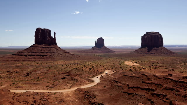 Time lapse Monument Valley under the blue sky video