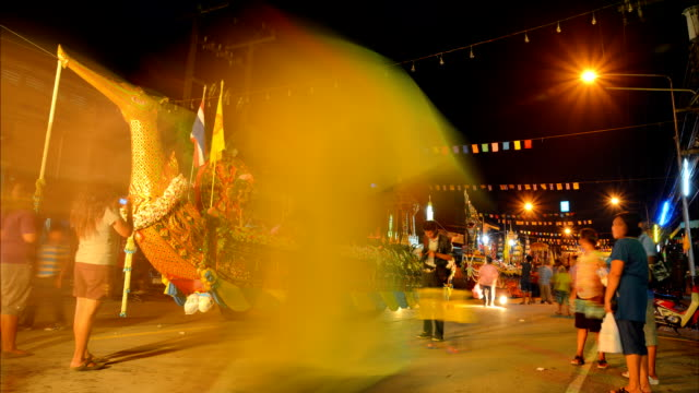 Time lapse motion of traditional buddhist festival video