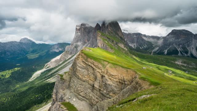 Zeitraffer, beweglichen Wolke am Secede, Dolomiten – Video