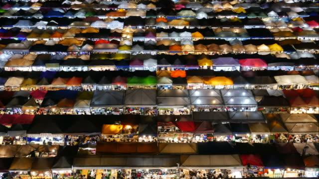 Time Lapse / Night market in Bangkok