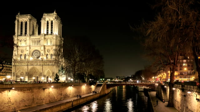 HD Time Lapse : Notre dame de Paris video