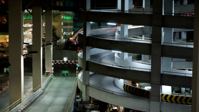 Time Lapse of a Car Park Entry. video