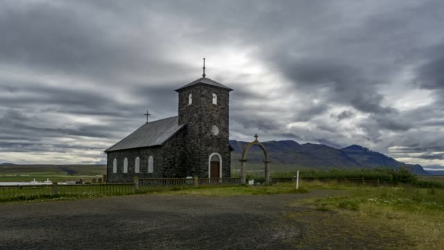 Time Lapse of a Church in Iceland