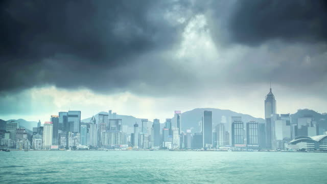 Time lapse of a cloudy day in Hong Kong video