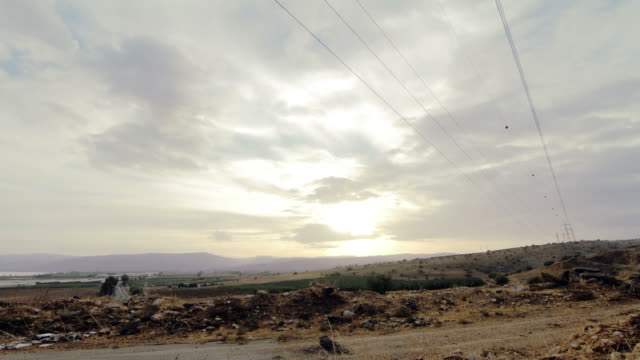 Time lapse of a Israeli landscape at sunset. video