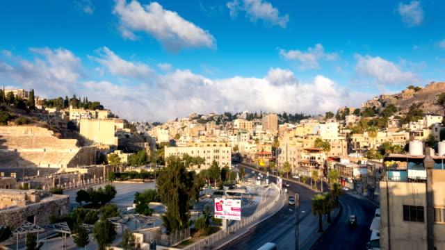 Time lapse of Amman City, The capital of Jordan