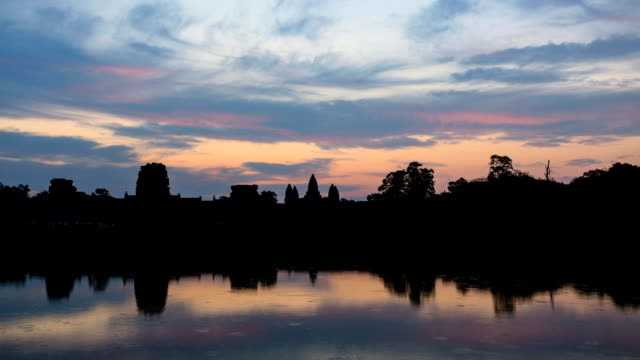 Time lapse of Angkor Wat Temple at sunrise, Cambodia video