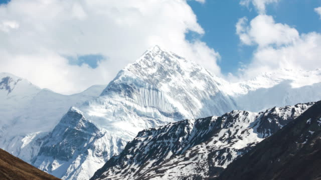 Time Lapse Of Annapurna Mountains, Himalaya, Nepal video