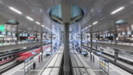 istock Time lapse of arrivals and departing trains at Berlin Central Station, Berlin, Germany 1204029918