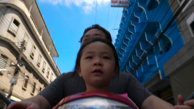 Time Lapse Of Asian Parents Traveling By Motorcycle video