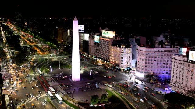 time lapse of avenida 9 de julio, ba - argentyna filmów i materiałów b-roll