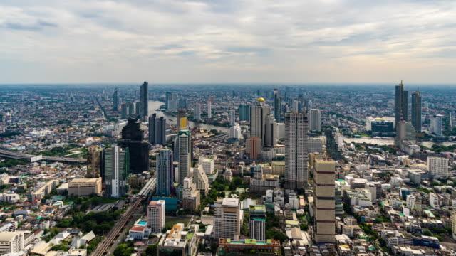 time lapse of bangkok city with chao phraya river, thailand - fiume chao phraya video stock e b–roll