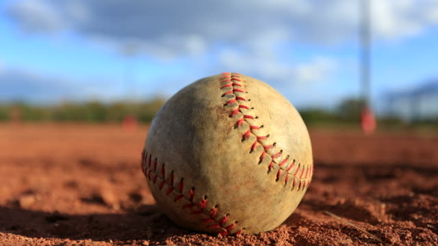 Time lapse of baseball on field video