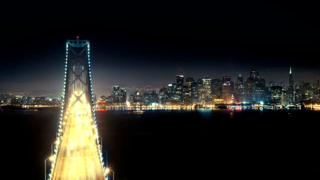 Time lapse of Bay Bridge and San Francisco video