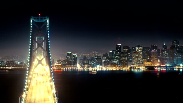 Time lapse of Bay Bridge and San Francisco