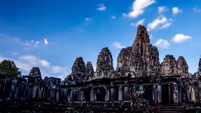 Time Lapse of Bayon temple evening time video