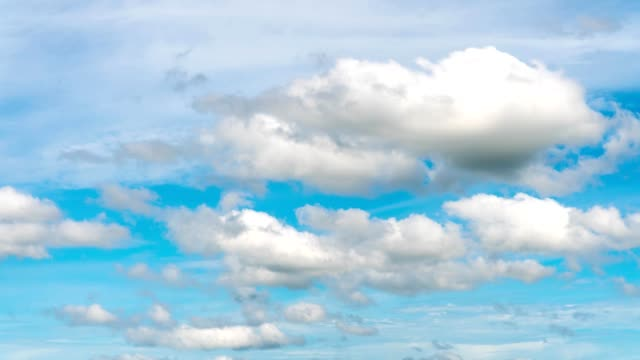Time lapse of beautiful blue sky with clouds video
