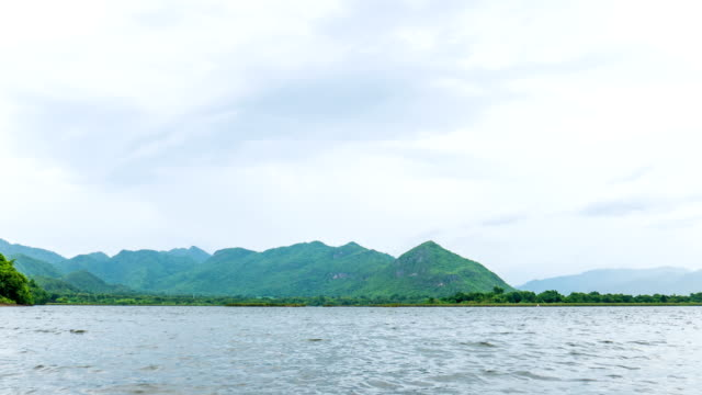 Time lapse of Beautiful Lake and Tropical Mountains Background video