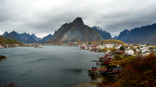 Time Lapse of Beautiful Landscape at Lofoten island, Norway video