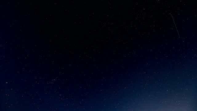 Time Lapse of Beautiful Night Sky and Milky Way