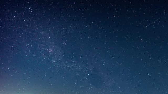 Time lapse of Beautiful Night Sky Milky Way Stars