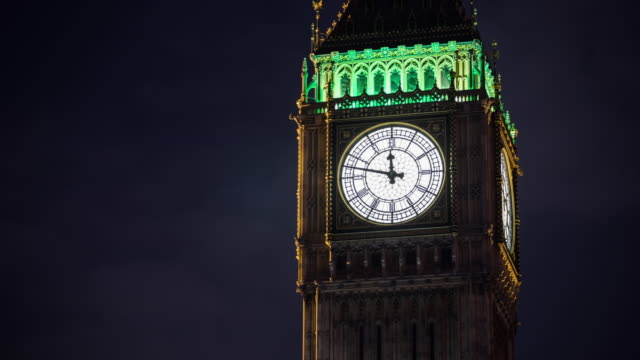 Time Lapse of Big Ben Clock Tower in London video