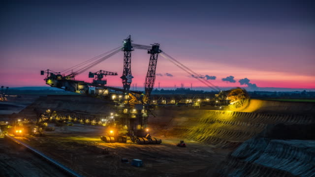 Time Lapse of Bucket Wheel Excavator in a lignite mine
