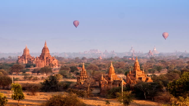Time lapse of Buddhist Temple at Bagan. Myanmar (Burma) video