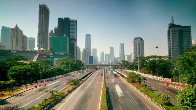 高速道路の移動車の時間の経過 - インドネシア点の映像素材/bロール