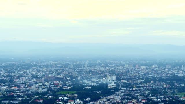 Laps de temps de la ville de Chiang Mai en mode grand angle. - Vidéo