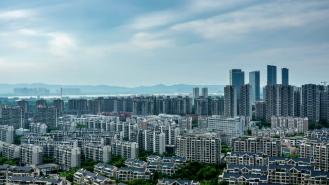 Time lapse of cityscape in nanjing city,china ,cloudy day video