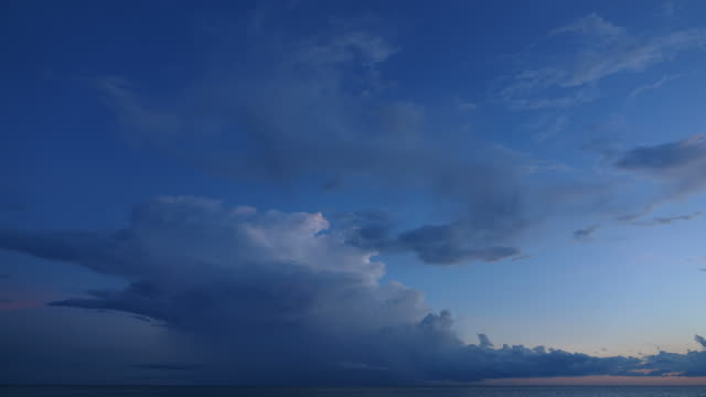 Time Lapse of Cloud at Dusk video