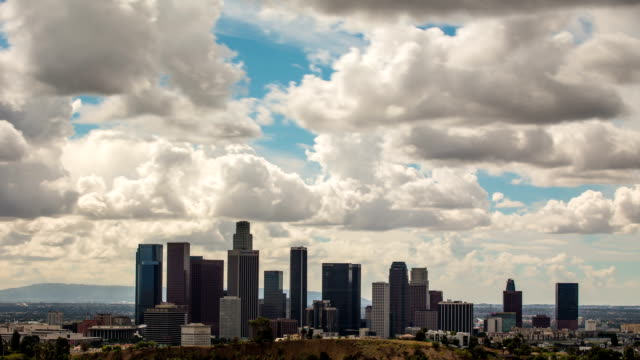 Time Lapse of Clouds Above Downtown Los Angeles. video