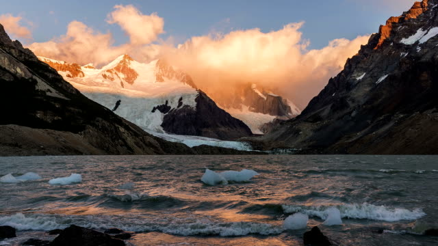 HD: Time Lapse of Clouds Forming Over the Cerro Torre video